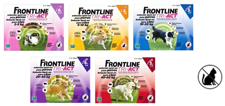 Frontline TRI-ACT Spot-on Dog 10-20kg 3x1 pipeta