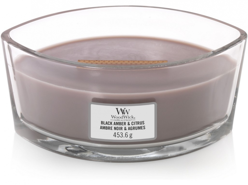 WoodWick Black Amber & Citrus 453,6 g